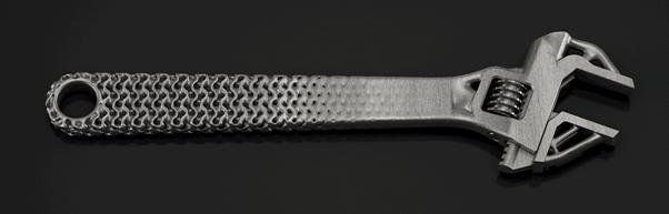 Spanner made with generative design. (Image courtesy of Frustrum.)