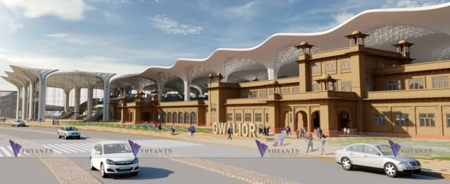 Voyants Solutions' plan for the Gwalior Railway Station. (Image courtesy of Voyants Solutions Private Limited.)
