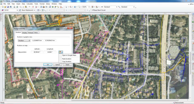 Low-voltage network with interactive Internet map from Siemens PSS Suite (Image courtesy of Siemens.)