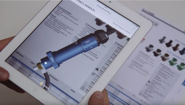 A training application built from Wikitude's SDK, showing a 3D model overlay of a component designed on paper and presented on an iPad. (Image courtesy of Wikitude)