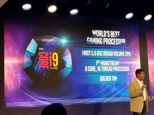 Intel unveils the i9 processors, among other releases, last week in New York. (Image courtesy of Tom's Hardware.)