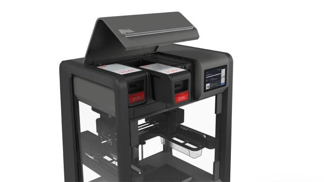 The DM Studio features safe-to-handle cartridges. (Image courtesy of Desktop Metal.)