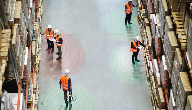 ProGlove upgraded its products to include proximity sensing for workers. (Image courtesy of ProGlove.)