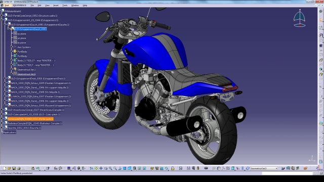 A design in CATIA. (Image courtesy of Dassault Systèmes.)
