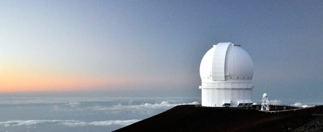 The Canada-France-Hawaii Telescope near the summit of Mauna Kea, Hawaii.