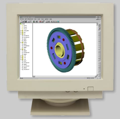 The UI of Solidworks 95. (Image courtesy of Solidworks)