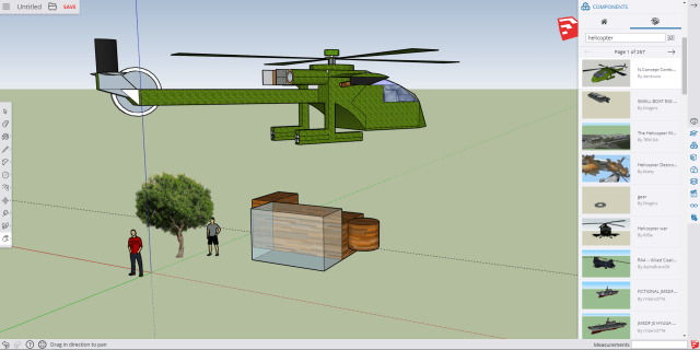 The free version of SketchUp, running in-browser.