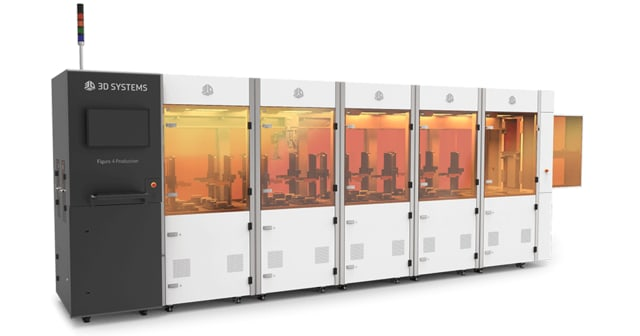 The Figure 4 Production is a scalable solution designed for in-line production. (Image courtesy of 3D Systems.)