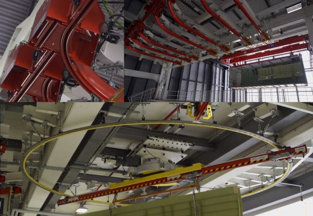 Overhead rails at the Airbus factory. (Image courtesy of Airbus.)