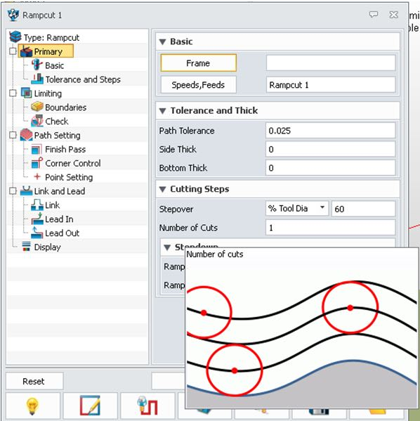 Figure 3. Graphical options accessed with a mouse.