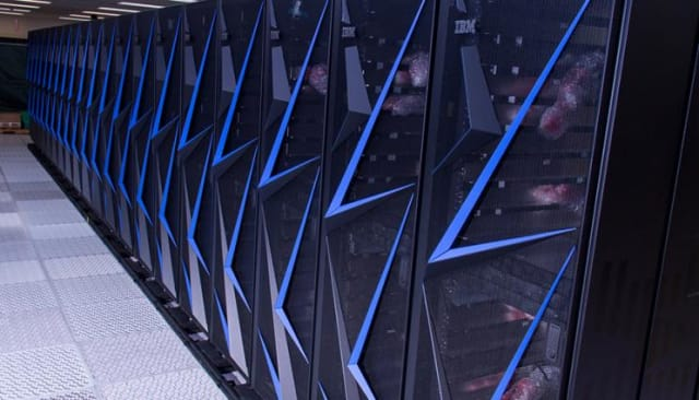 With an HPL result of 95.6 petaflops, the IBM-built Sierra system at Lawrence Livermore Laboratory is number two supercomputer in the world. (Image courtesy of Lawrence Livermore National Lab.)