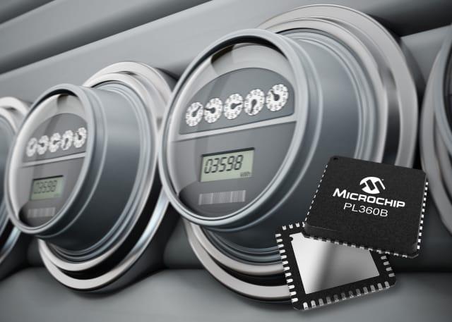 PL360B PLC Modem. (Image courtesy of Microchip.)