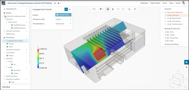 New SimScale Workbench 2.0 user interface. (Image courtesy of SimScale.)