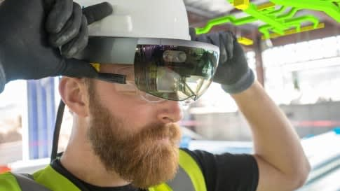 After a successful launch in the AEC industry, HoloLens will now be used by U.S. soldiers for combat and training purposes. (Image courtesy of Microsoft.)