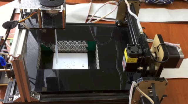 Neurotechnology's ultrasonic manipulation prototype 3D printer. (Image courtesy of Neurotechnology/YouTube.)