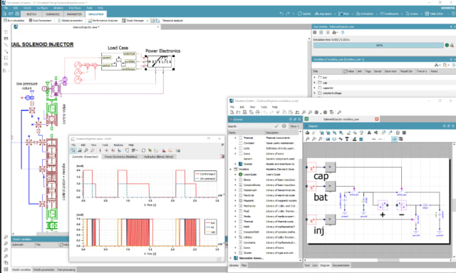 Full Modelica functionality is supported in Simcenter Amesim. (Image courtesy of Siemens PLM Software.)