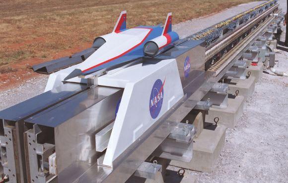 NASA developed a prototype Magnetic Levitation (MagLev) System. (Image courtesy of NASA.)