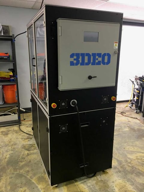 The 3DEO metal 3D printing system. (Image courtesy of 3DEO.)