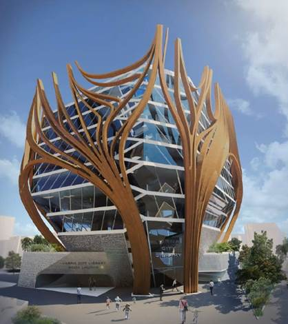 Figure 2. The Varna Library facade concept. (Image courtesy of Digital Architects.)