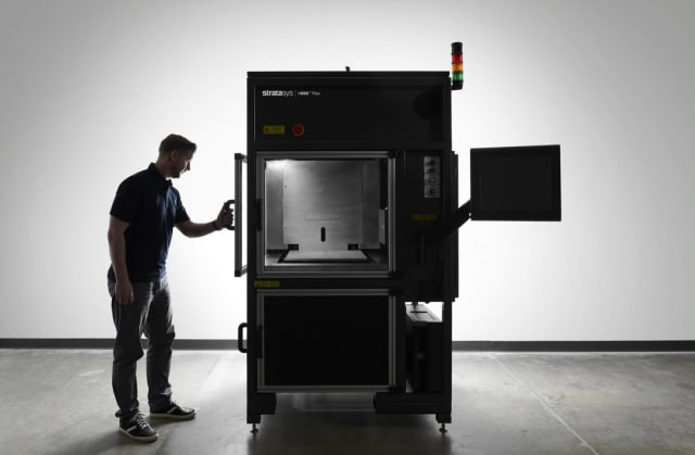 The V650 Flex is Stratasys's first commercial SLA 3D printer. (Image courtesy of Stratasys.)