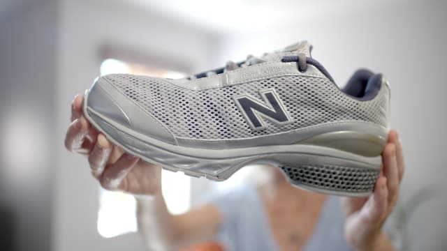 A shoe with a heel made with High Speed Sintering. (Image courtesy of Loughborough University.)