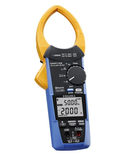 CM4142 clamp meter. (Image courtesy of Hioki.)