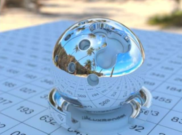 One of SPECworkstation 3's dedicated suites for workloads includes LuxRender, which uses LuxMark, a benchmark based on the new LuxCore physically based renderer, to render a chrome sphere. (Image courtesy of LuxCoreRender.)