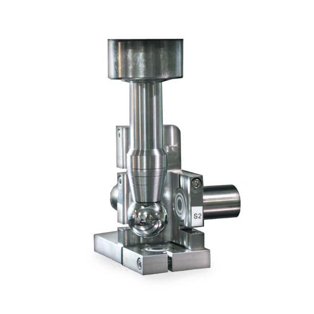 Figure 2: API Spindle Analyser uses proximity sensors to measure the movement of a precision steel cylinder as it is spun by the spindle.