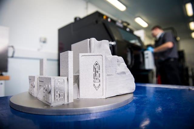 Metal parts made via powder bed fusion at GKN's facility in Filton, UK. (Image courtesy of GKN.)