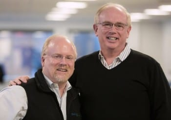John McEleney (left) relinquished the CEO position to cofounder Jon Hirschtick last September, in part to attend to his ailing wife. Picture from 2015 article in isicad.ru/isicad.net.