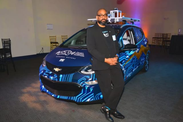 Karreem Hogan, who is working on his PhD in electrical engineering at North Carolina A&T State University, is a participant in the AutoDrive Challenge. . (Image courtesy of Velodyne LiDAR.)
