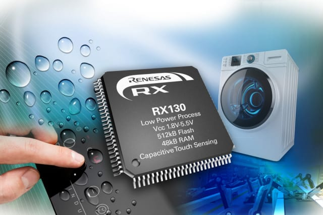 RX130 Group of 32-bit microcontrollers. (Image courtesy of Mouser Electronics.)