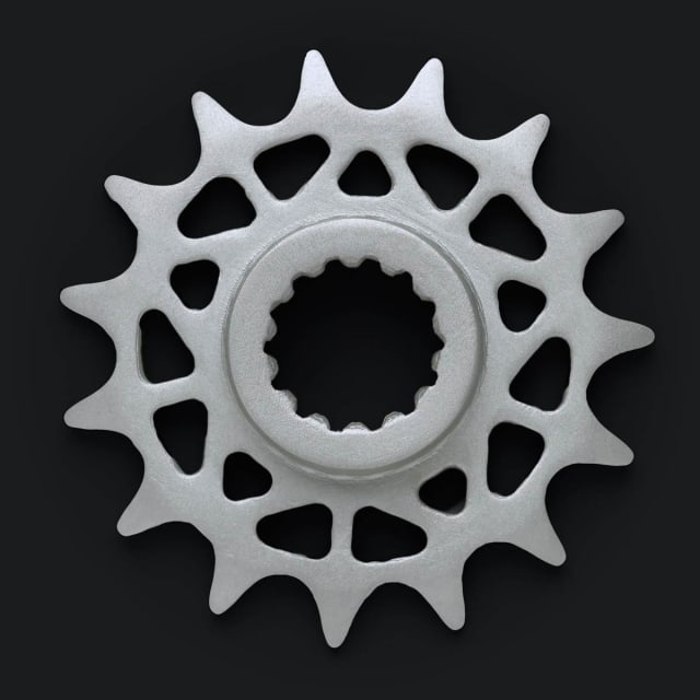 A 3D-printed metal sprocket. (Image courtesy of Markforged.)