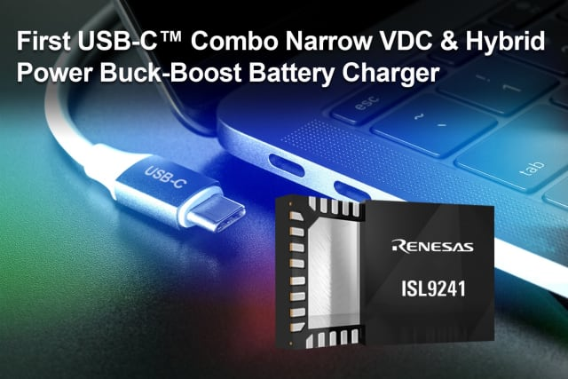 ISL9241 buck-boost battery charger. (Image courtesy of Renesas Electronics.)