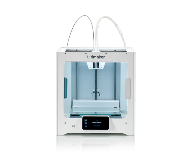 The Ultimaker S3 has a larger build volume and automated bed leveling. (Image courtesy of Ultimaker.)