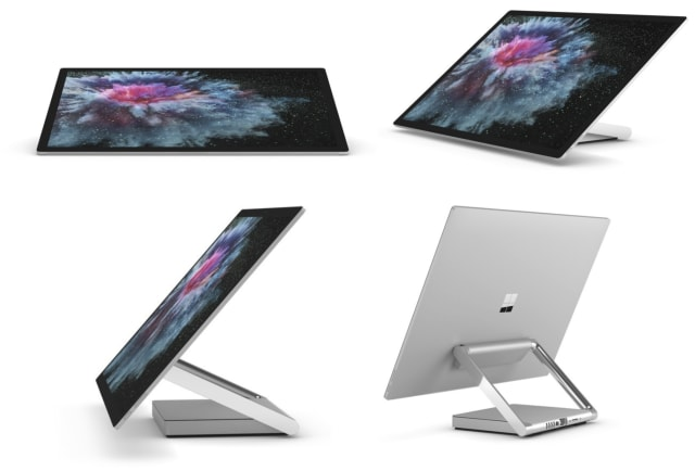 Illustration of the Surface Studio's Zero Gravity Hinge. (Images courtesy of Microsoft.)