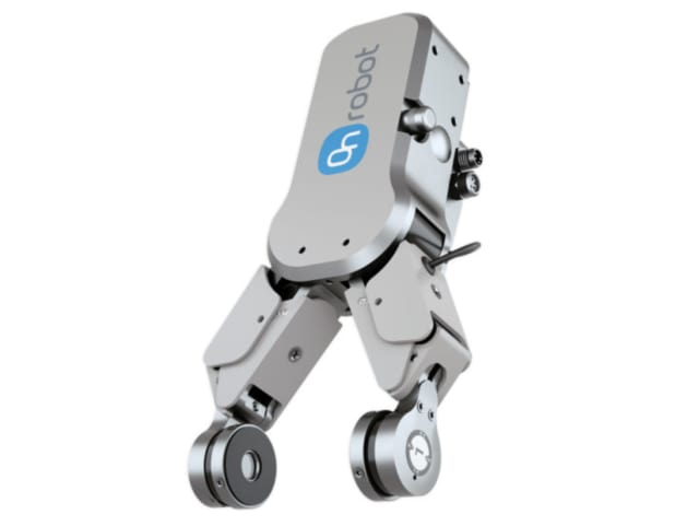 The RG2-FT has 6 axis F/T sensors at the fingertips that provide accurate gripping for better production quality. (Image courtesy of OnRobot.)