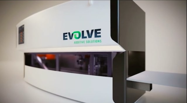 The current Evolve Additive system has a build volume of 24in x 13in x 6in. (Image courtesy of Evolve Additive.)