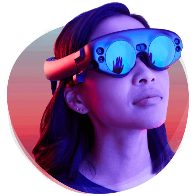 The Magic Leap One headset. (Image courtesy of Magic Leap.)