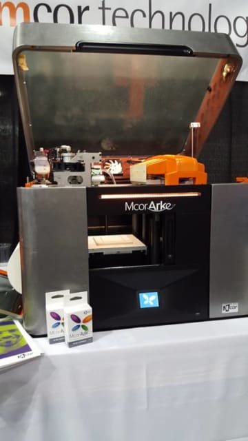 The Mcor ARKe printer at SOLIDWORKS World.