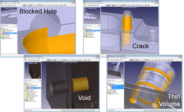 CADIQ detects errors in CAD models. (Image courtesy of ITI.)
