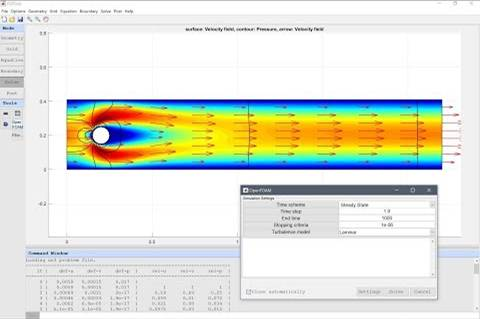 Screenshot of a tutorial explaining how to simulate laminar flow past a cylinder. (Image courtesy of Precise Simulation Ltd.)