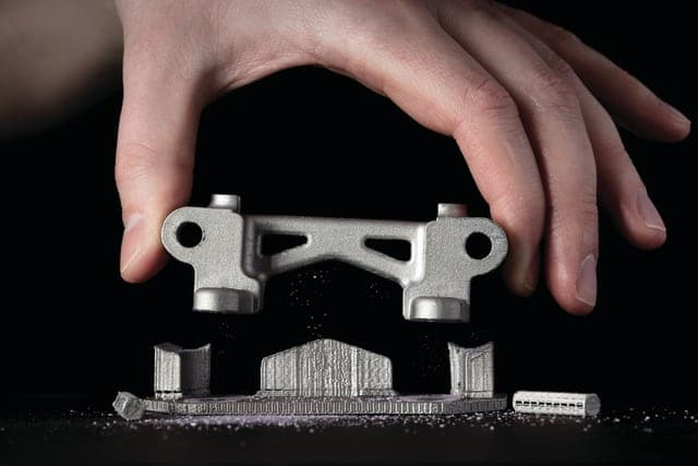 Separable supports minimize post-processing. (Image courtesy of Desktop Metal.)