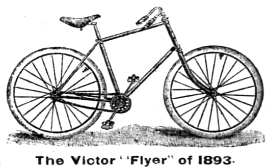 Was this the first diamond frame bicycle? CAD and generative design were not in the picture. (Imagecourtesy of Wikipedia.)