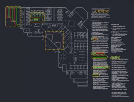 Screenshot of AutoCAD 2019's new DWG Compare feature. (Image courtesy of Autodesk.)