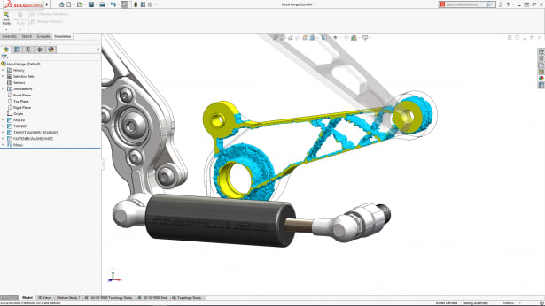 Topology optimization. (Image courtesy of Dassault Systèmes SolidWorks.)