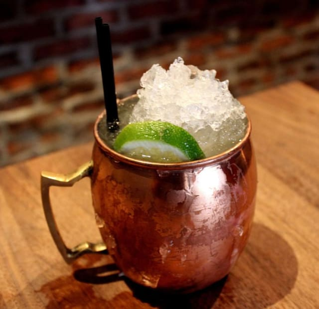 The official drink of the coronavirus? Moscow mule, served in a copper cup. Copper has been proven to kill the SARS-CoV-2, the virus that causes COVID-19, just as it has been known to kill other microbes on contact. (Shown as served at Rye in San Francisco; image courtesy of Wikipedia.)