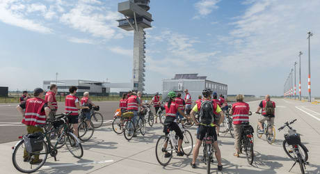 One day, planes will take off here, says the tour guide. The airports only revenue as it lies fallow may be its 2 hour, EUR€15 bicycle tours for tourists curious to see a side of Germany opposite the usual efficiency and punctuality. (Image courtesy of FBB.)