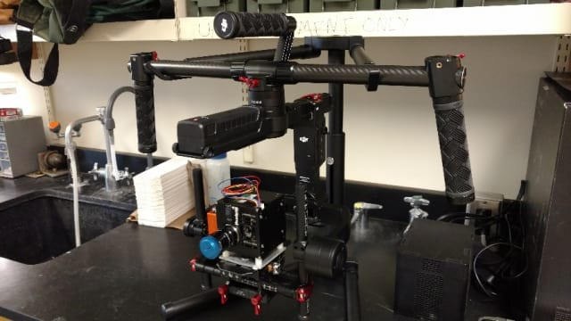 Hyperspectral camera and mount. (Image courtesy of Paul Manley.)