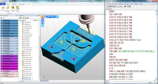 Example of an interface (Edgecam Workflow) from the well-known and often-used CAM software Edgecam, one of the brands under Hexagon's Manufacturing Intelligence umbrella.(Image courtesy of Hexagon.)